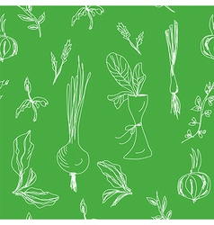 Greens and salad seamless vector image
