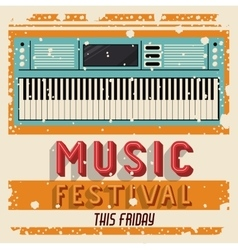 MUSIC FESTIVAL ISOLATED ICON DESIGN vector image vector image