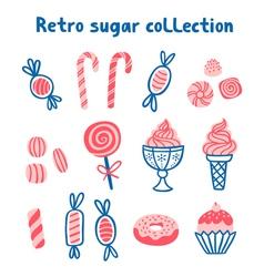 Retro sugar collection vector image vector image