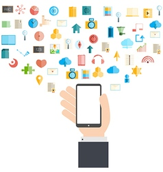 Smart phone and cloud technology vector image vector image
