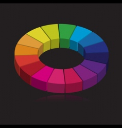 3d color wheel vector image