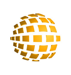 3d square abstract sphere modern effect vector image
