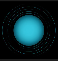 abstract blue circles vector image