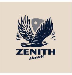 an eagle or hawk vector image