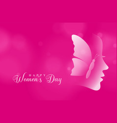 Attractive happy womens day pink color background vector