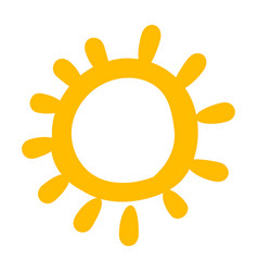 baby yellow sun funny cartoon picture icon vector image