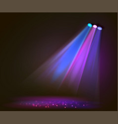 Background image spotlights with stage in color vector