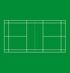 Badminton court background vector