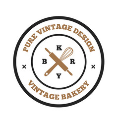 Bakery and bread logos labels badges and design vector