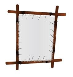 Bamboo Frame with a canvas vector