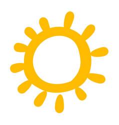 Bayellow sun funny cartoon picture icon vector