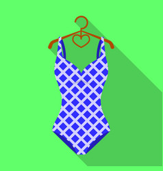 Blue and white swimsuit for competitive swimming vector