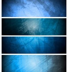 Blue textural backgrounds set vector image