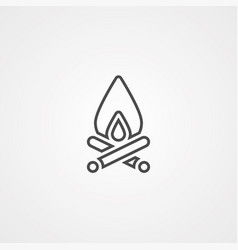 bonfire icon sign symbol vector image