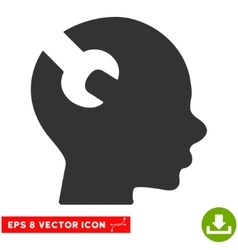 Brain Wrench Tool Eps Icon vector