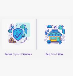 business and finance concept icons secure payment vector image