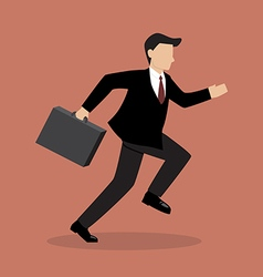 Business Man Running vector image vector image