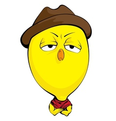 Cartoon chick vector