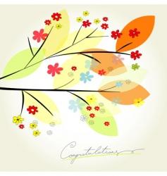 congratulation card vector image