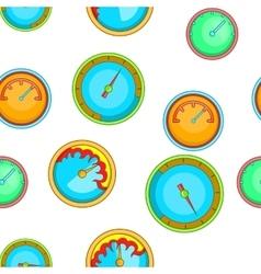 Engine speedometer pattern cartoon style vector