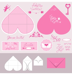 envelope heart 380 vector image