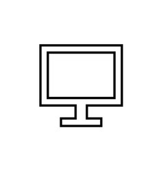 flat line monitor icon vector image