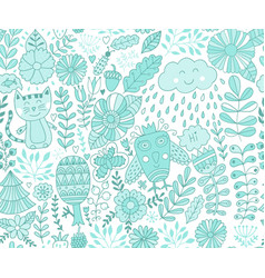 forest design floral seamless pattern with vector image