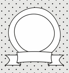 Frame and white polka dots on grey background vector image