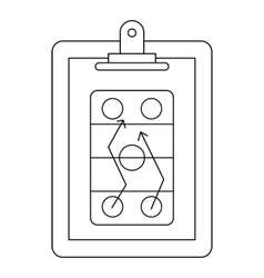 Game plan icon outline style vector