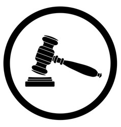 Gavel icon black vector