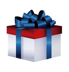 gift box present decoration flag america color vector image