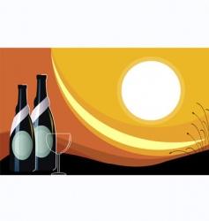 Goblet wine vector