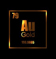 gold chemistry molecula atom aurum vector image