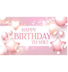 Happy birthday congratulations card template vector