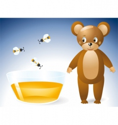 Honey bear vector