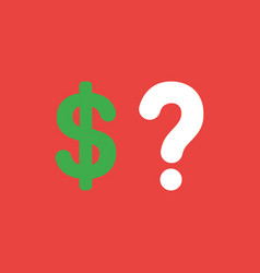 icon concept of dollar symbol with question mark vector image