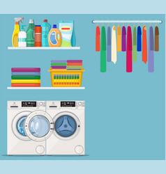 Laundry room service vector