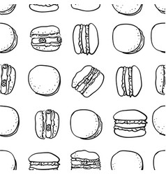 macarons stylish seamless pattern vector image