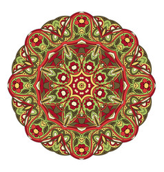 Mandala zentangl round ornament for creativity vector