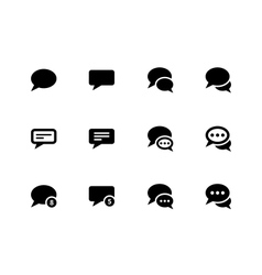 Message bubble icons on white background vector image