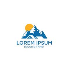 mountain real estate logo icon vector image