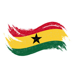national flag of ghana designed using brush vector image