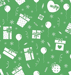 New Year pattern 4 vector image