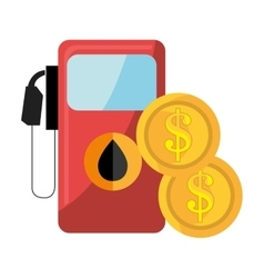 Oil station pump and money vector