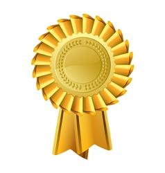 Ornate Gold Rosette Award vector