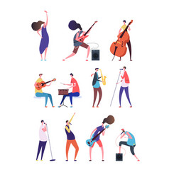 people playing music musicians performing rock vector image