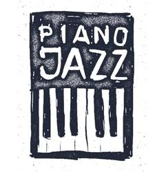 playing jazz piano hand drawn vector image