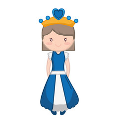 princess girl icon vector image