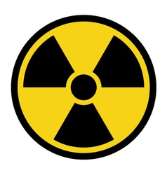 radiation yellow sign vector image vector image