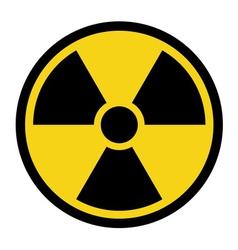 radiation yellow sign vector image